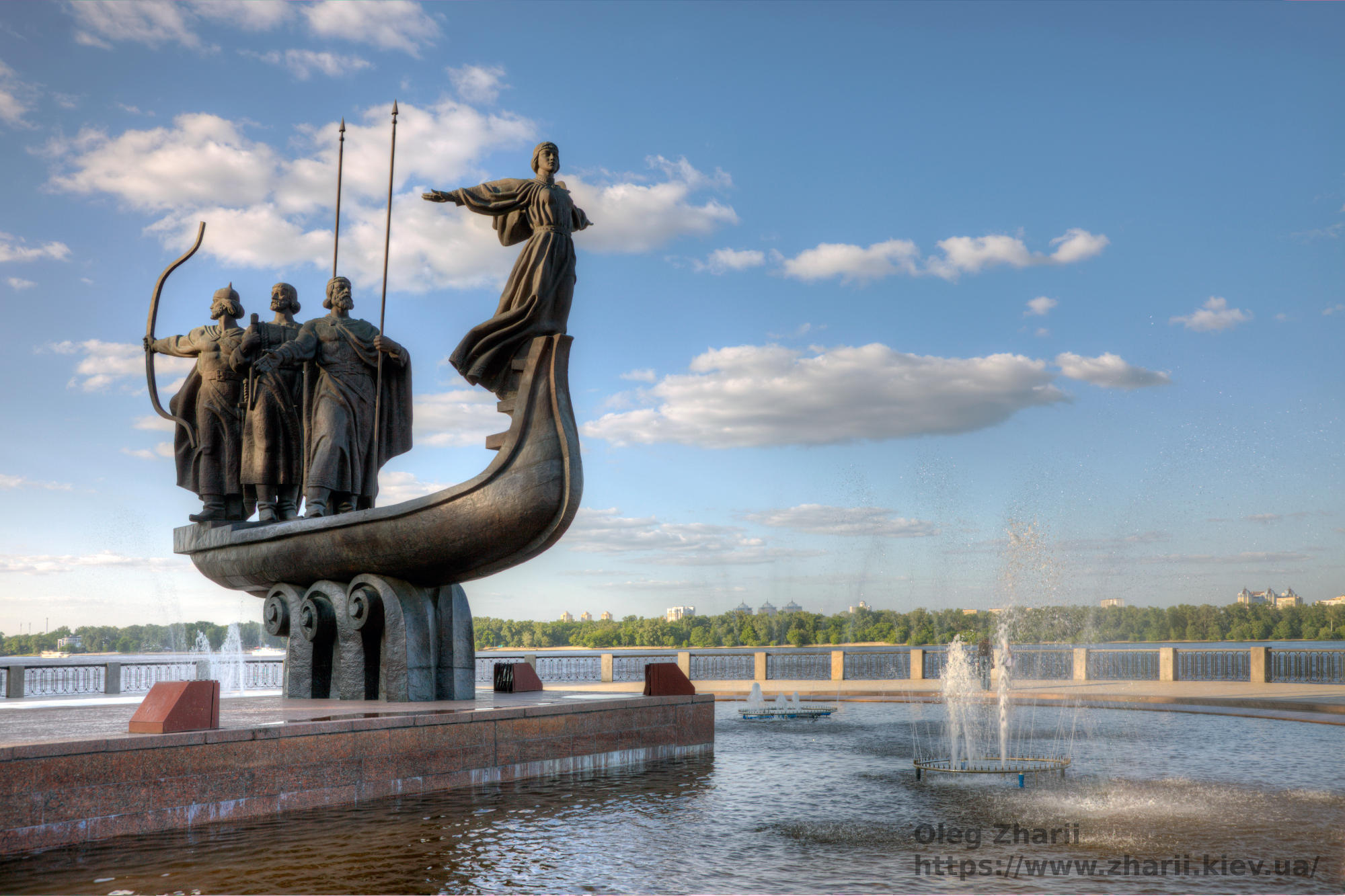 Three founders of Kyiv City and their sister